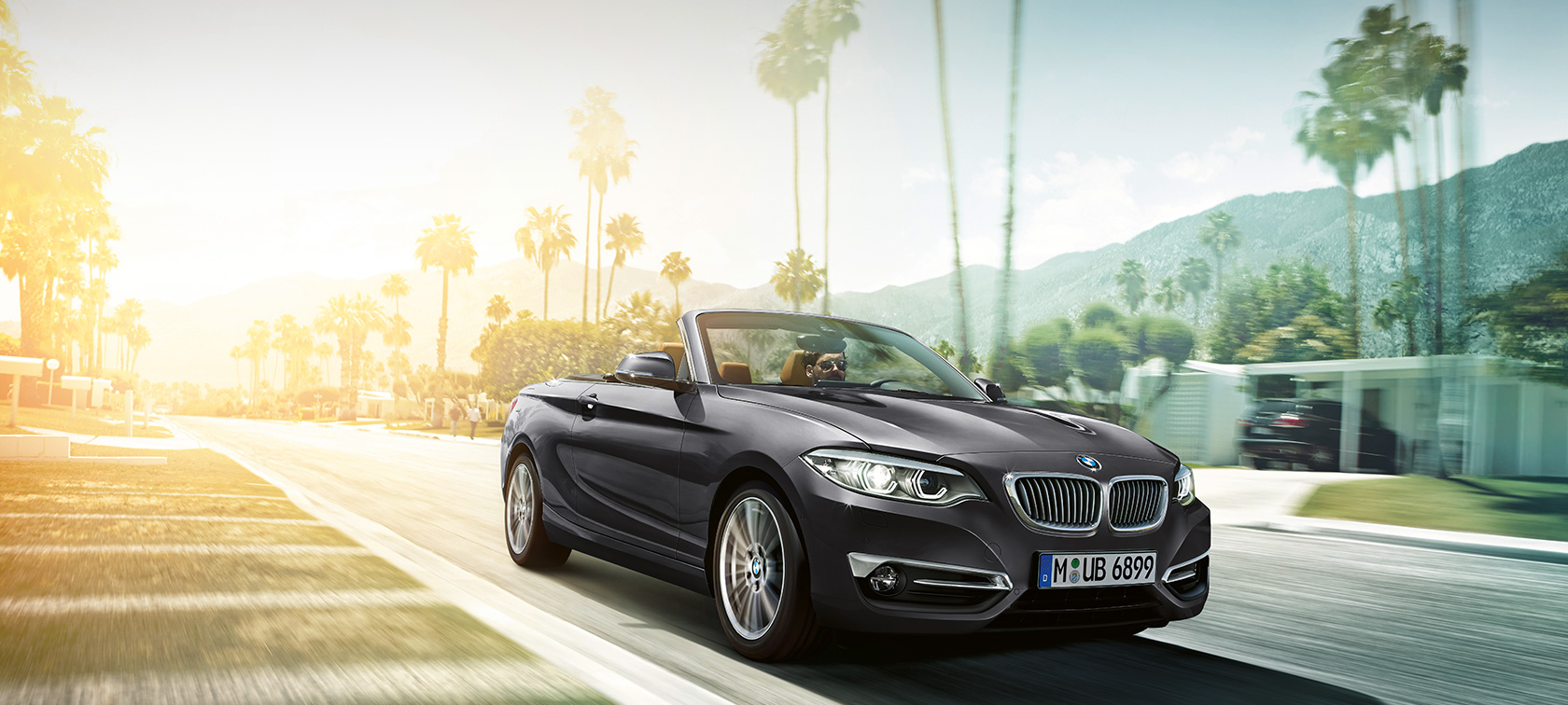 BMW 2 Series Convertible, driving shot